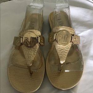 Lauren, Ralph Lauren Gold Sandals